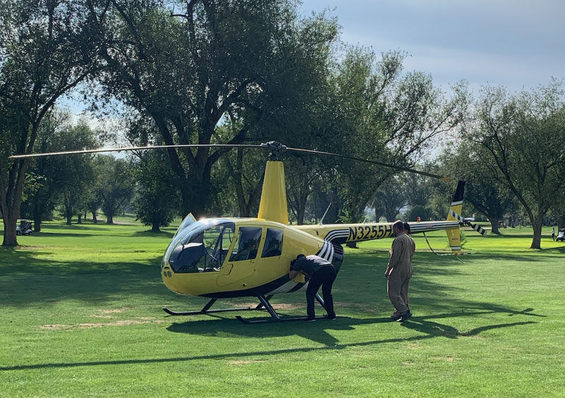 Helicopter Makes Safe Emergency Landing at Antelope Hills Golf Course