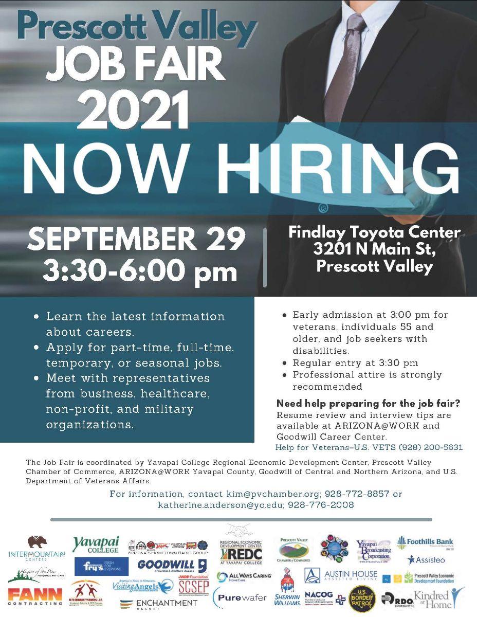 Prescott Valley Job Fair 2021 This Week