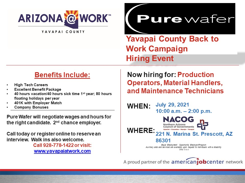 Hiring Event Today!