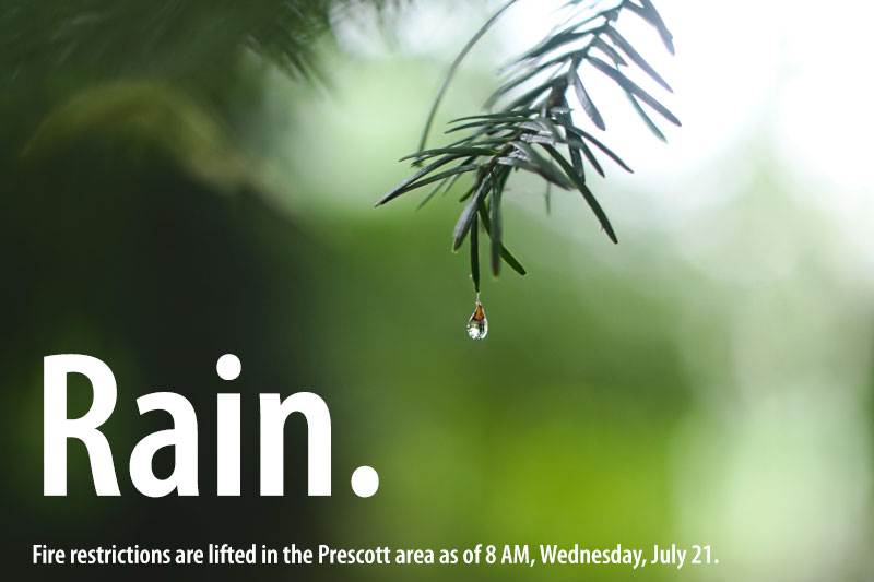 Fire Restrictions Lifted in Greater Prescott Area